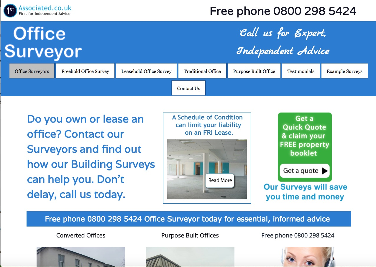 Website Brief - Take a Look at OfficeSurveyor.co.uk