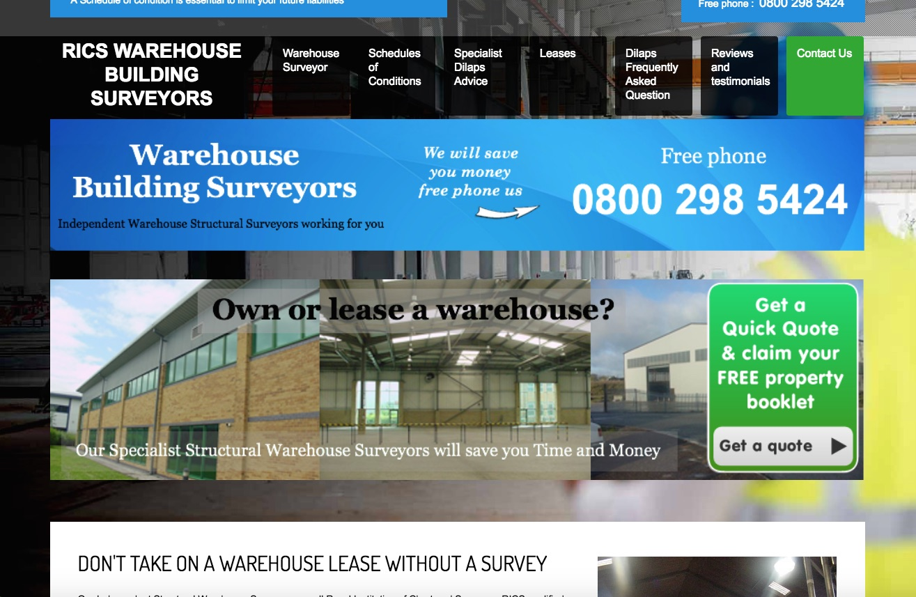 Website Brief - Take a Look at WarehouseSurveyor.co.uk