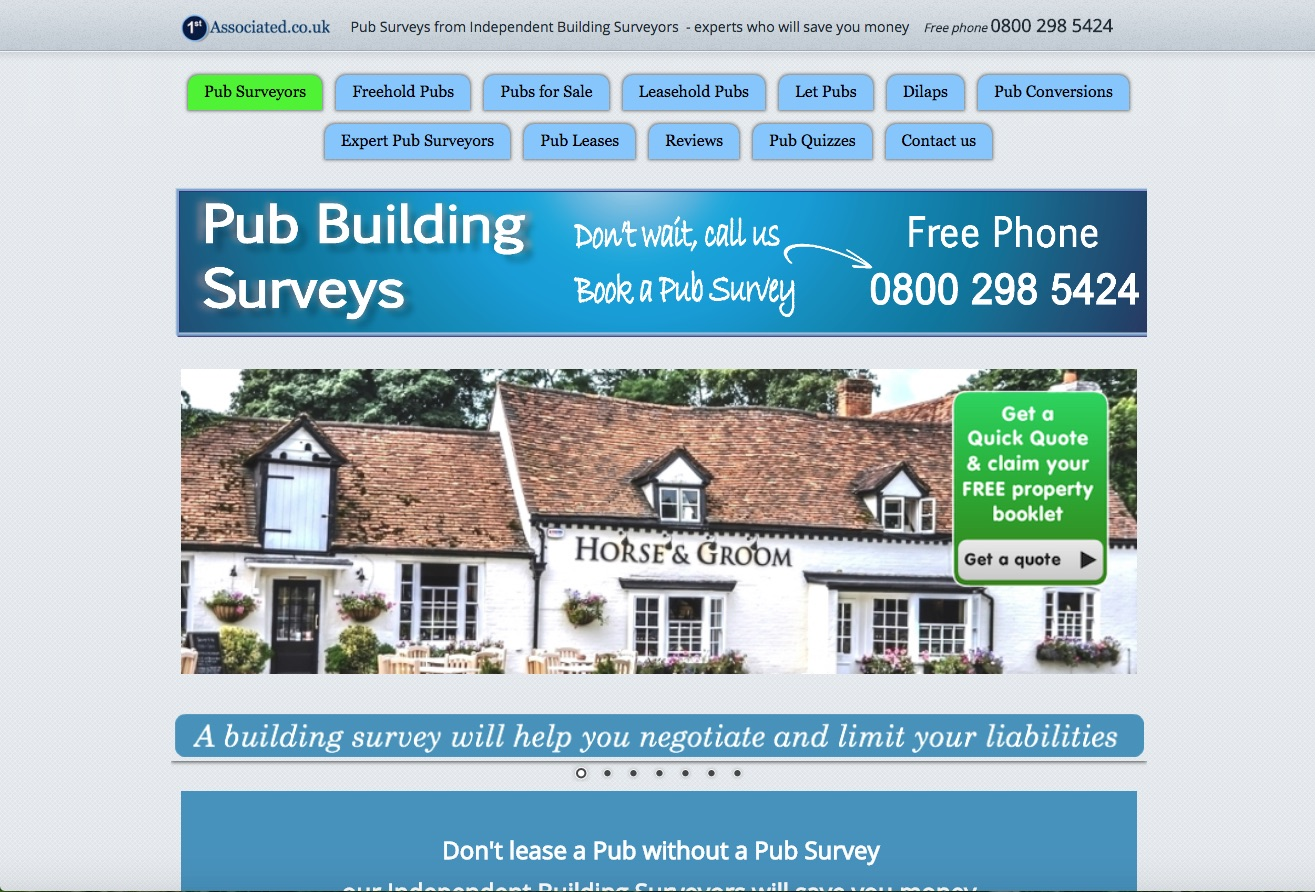 Website Brief - Take a Look at PubSurveys.co.uk